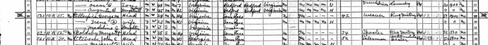 Gilbert Gillespie in the 1940 Census