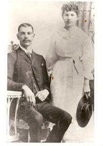 Wyatt Paul Gillespie and Laura Cecile Donald ca. 1894. I suspect that this is their wedding photo.