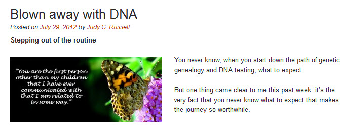 Blown With DNA from the Legal Genealogist