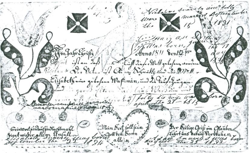 Fraktur for Nicholas Snavely (Finding Forgotten Stories)