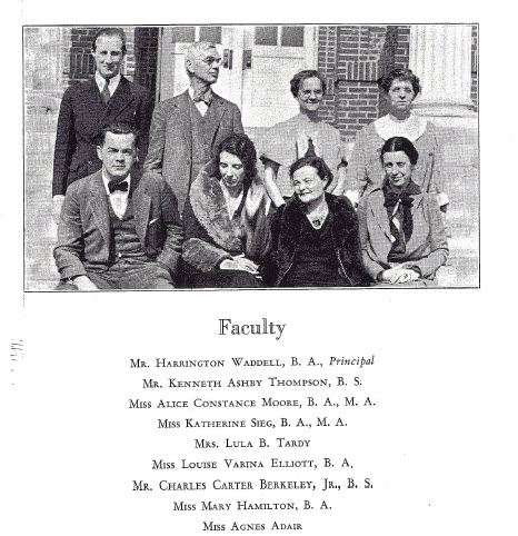 Faculty at Lexington High School 1934, Lexington, Virginia