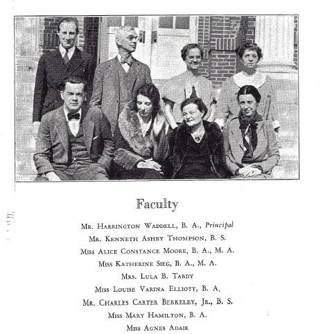 Faculty at Lexington High School 1934, Lexington, Virginia