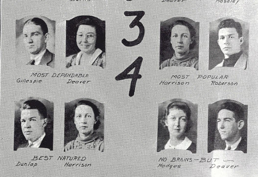 Hall of Fame 1934 in the Lexington High School Crystal