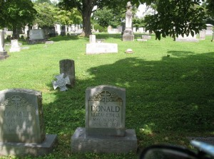 Donald Plot at Stonewall Jackson Cemetery, Lexington, Virginia